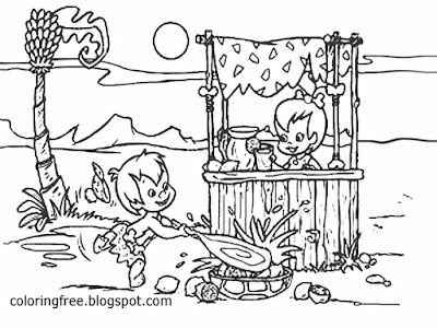 Cute Shop Printable Pebbles Bambam Flintstones Stone Age Family Cool Drawing Ideas For Teenage Girls