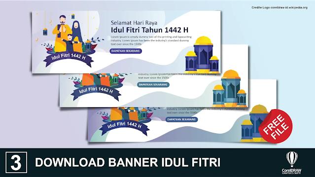 download spanduk Idul Fitri Keren Gratis
