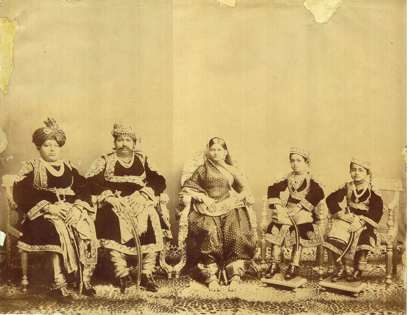 Undated Photograph of an Aristocratic Indian Family