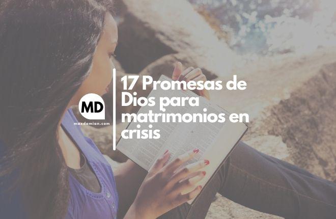 Promesas de Dios para matrimonios en crisis