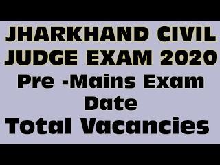 2020 Jharkhand Judicial service exam PCS J civil judge