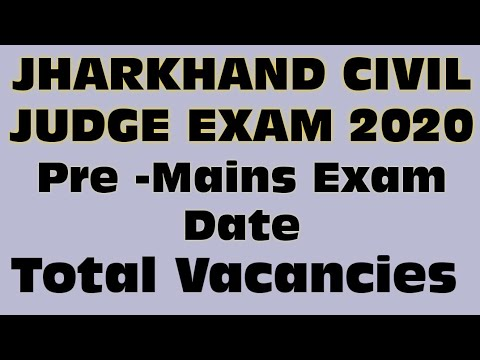2020 Jharkhand Judicial service exam PCS J civil judge