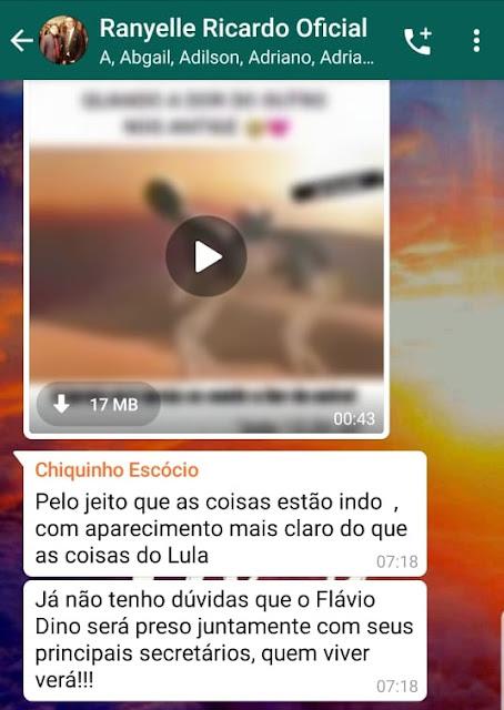 Ex deputado Chiquinho Escórcio, acredita que Flávio Dino e seus principais secretários, serão presos!!!