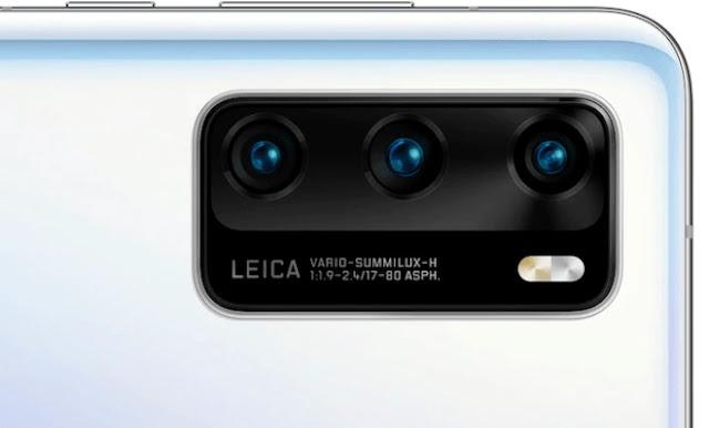 هواوى P40 بكاميرا خلفية ثلاثية العدسات بدقة 50 MP