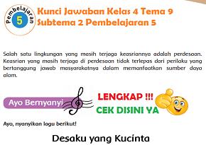 Kunci Jawaban Kelas 4 Tema 9 Subtema 2 Pembelajaran 5 www.simplenews.me