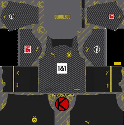 Borussia Dortmund 2021/22 Kit - DLS2019 Kits