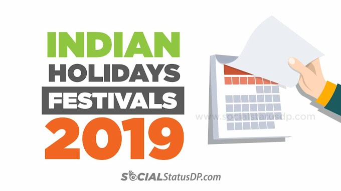 Indian Festivals Holidays Calendar 2019 - List of all Holidays