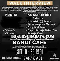 Walk In Interview di Bangi Cafe Surabaya Desember 2019