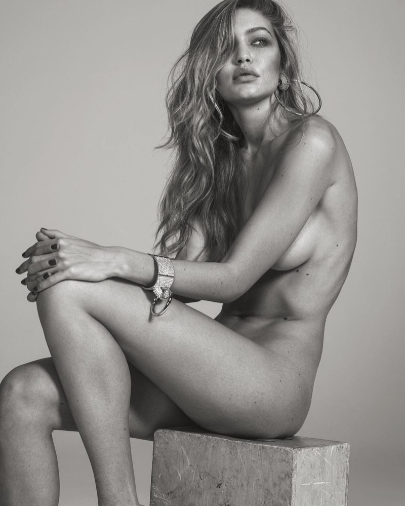 Gigi Hadid goes naked for Vogue Paris