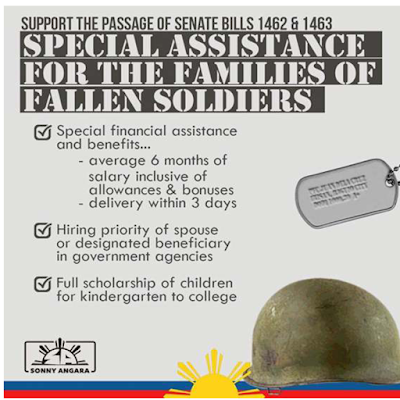 Senator Angana Bill Financial Assistance and Benefits for soldiers