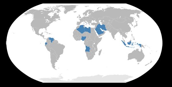 OPEC petrolio paesi membri