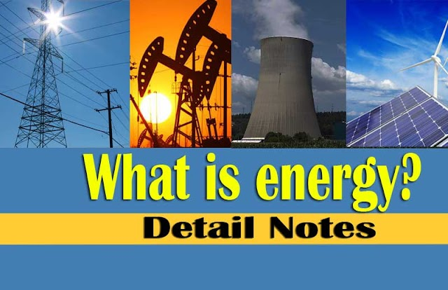 What is energy and its unit? | Source of renewable energy