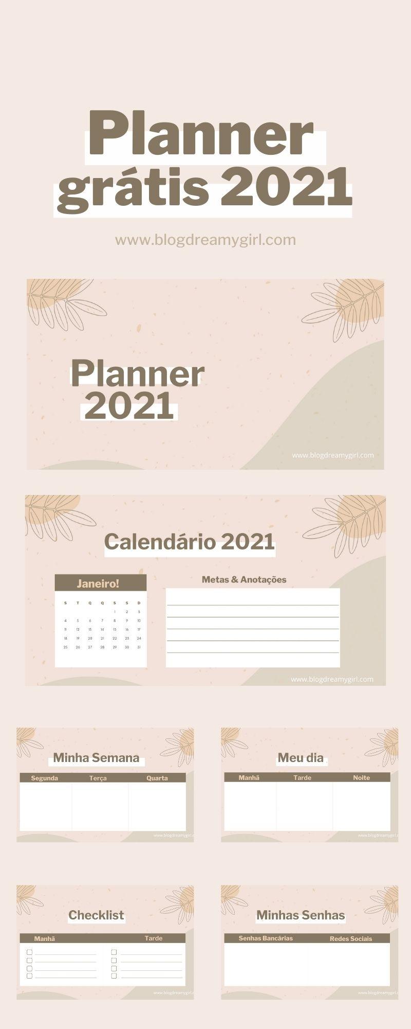 Planner Gratuito 2021