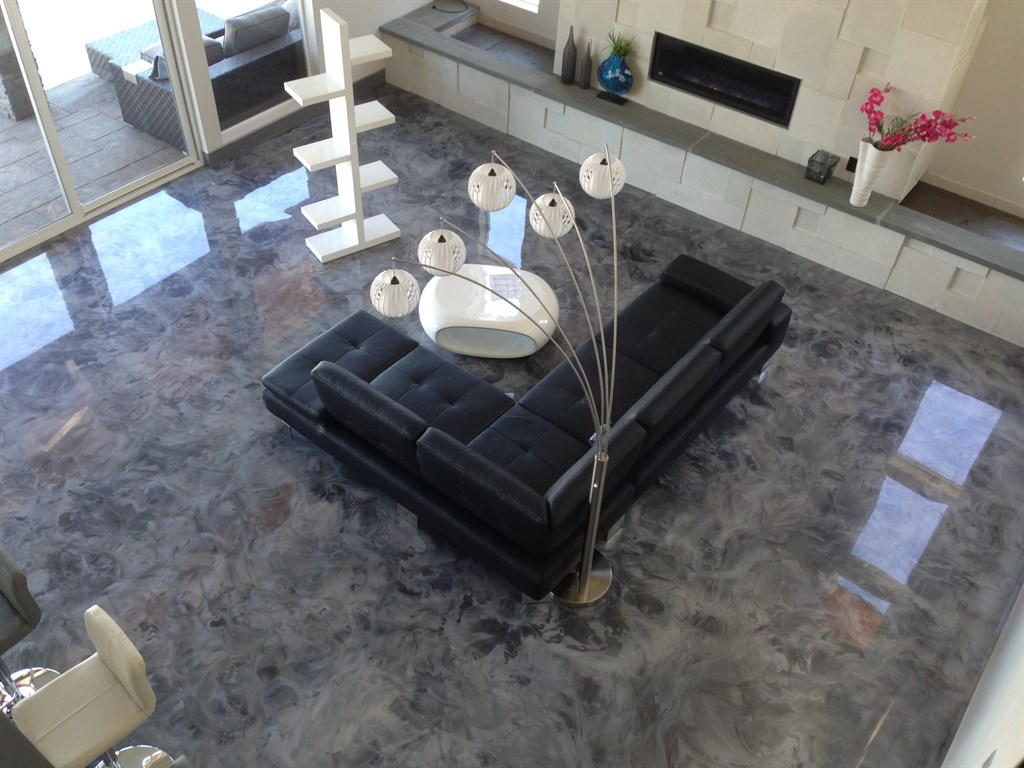 silver metallic epoxy coating for self leveling  living room floor