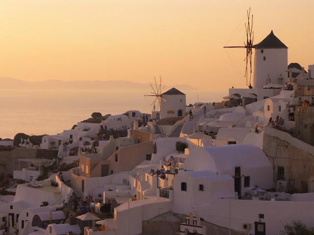 Santorini, Oia, Zachód słońca, Sunset