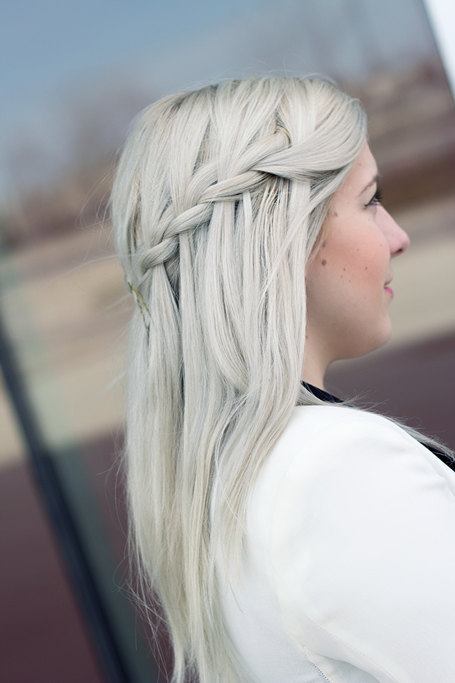Waterfall Braid x Granny Hair