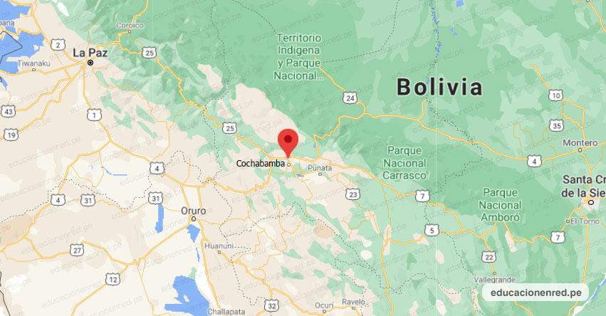 Temblor en Bolivia (Hoy Martes 24 Noviembre 2020) Terremoto - Sismo - Epicentro - Cochabamba - www.osc.org.bo