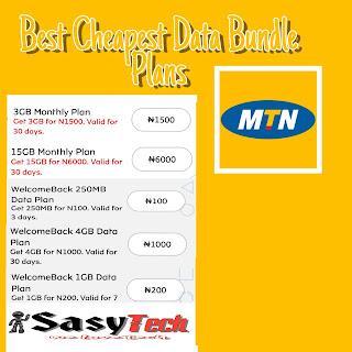 MTN Best Cheapest Data Bundle Plans 2019
