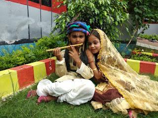 रुनझुन व अरुण राधा कृष्ण की जोड़ी ने जीता प्रथम पुरस्कार | #NayaSaberaNetwork