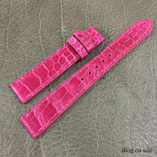 dây đồng hồ nữ da cá sấu 10