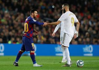 Real Madrid star Karim Benzema beat Barcelona ace Lionel Messi to Liga award
