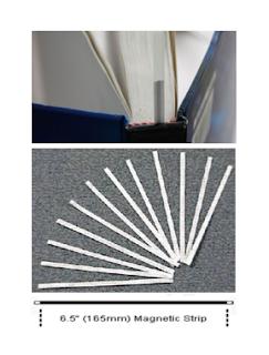 bibliotheca圖書安全系統專用磁碼條,精裝本,書本防盜磁條,3m,12.5公分,LY-B4-B
