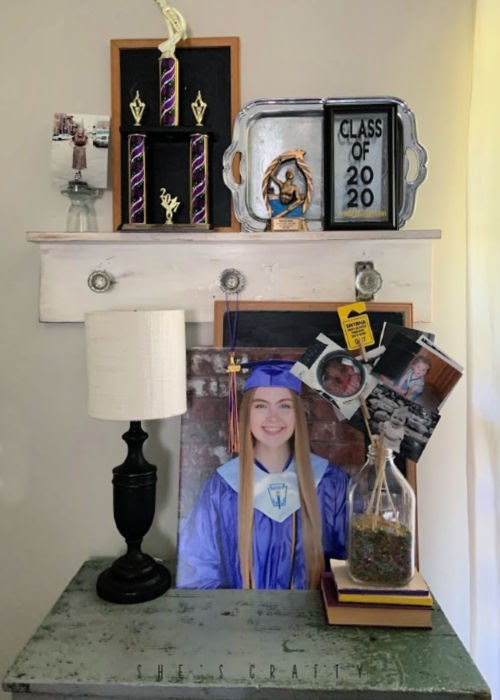 graduation display at home for seniors