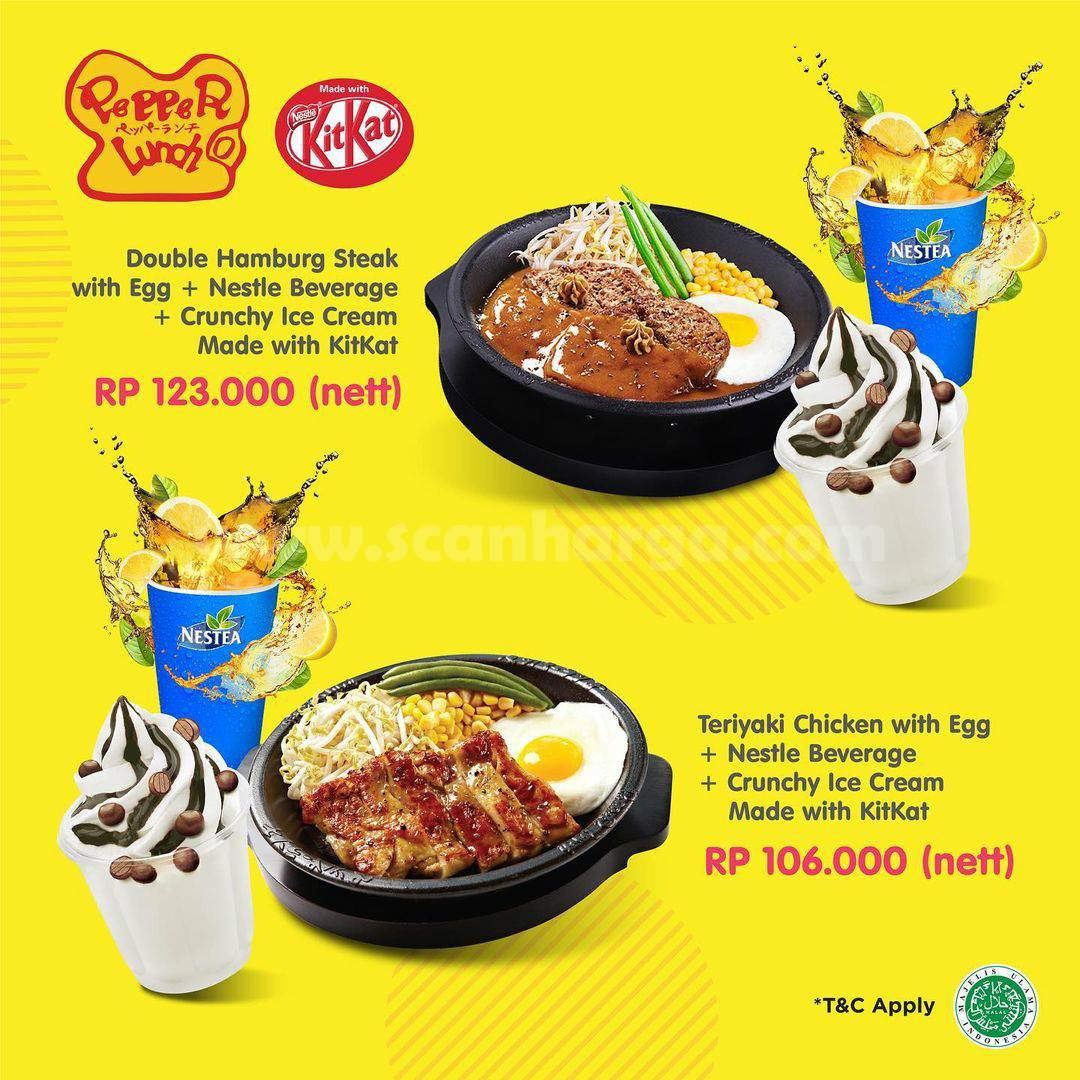 Pepper Lunch Promo Special Bundling Menu With KITKAT – star from IDR 106.000 nett