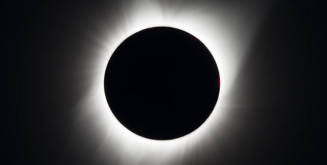 A total solar eclipse is seen on Monday, August 21, 2017 above Madras, Oregon. Photo Credit: NASA/Aubrey Gemignani