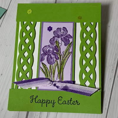 Floral Easter Card using the Inspiring Iris Stamp Set