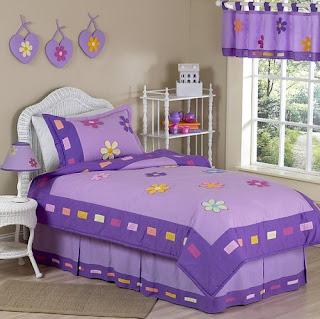 Dormitorio infantil lila
