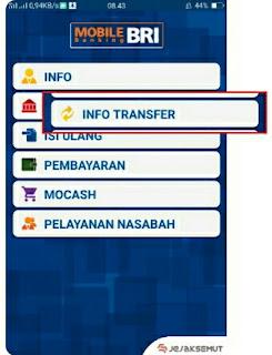 Info lalu Info Transfer