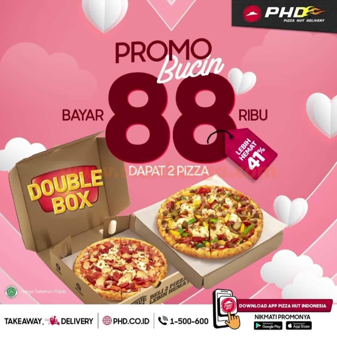 PHD Spesial Valentine Promo BUCIN! Bayar Rp 88Rb Dapat 2 PIZZA