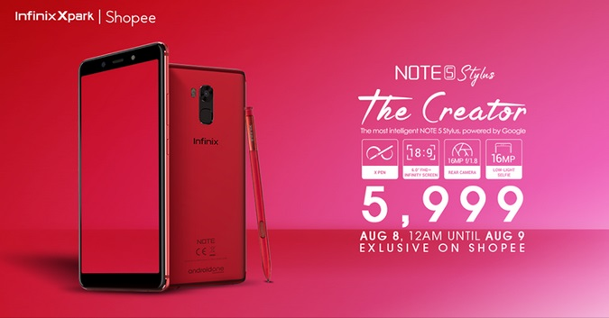 Infinix Note 5 Stylus Arrives in PH for Php5,999