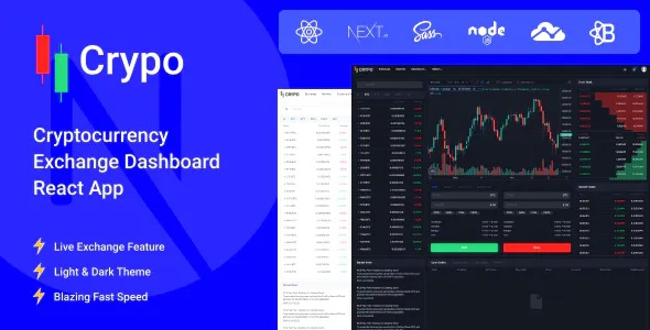 Best Cryptocurrency Exchange Dashboard React App