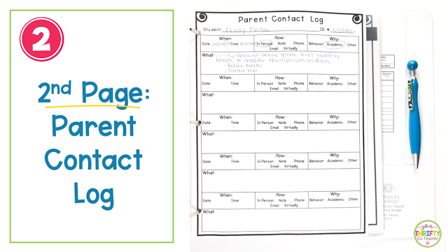 Keep all of your parent communication organized and in one place with this FREE Parent Contact Log.