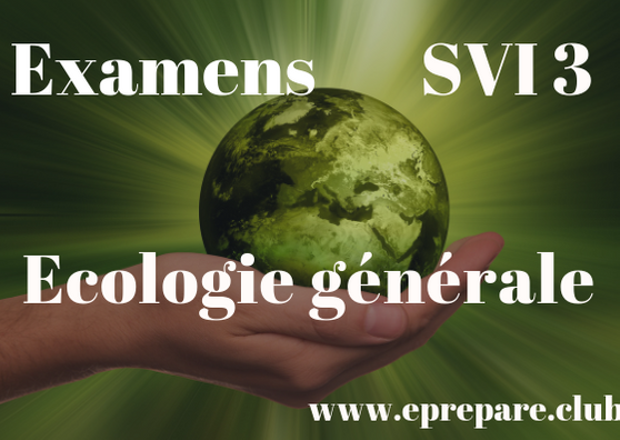 Examens Corrigés de Écologie Générale I SVI S3 PDF