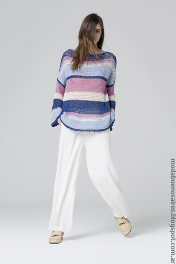 Sweaters tejidos primavera verano 2017 moda 2017.