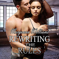 Rewriting the Rules audiobook cover. A bare-chested man caresses a woman in black underwear from behind.