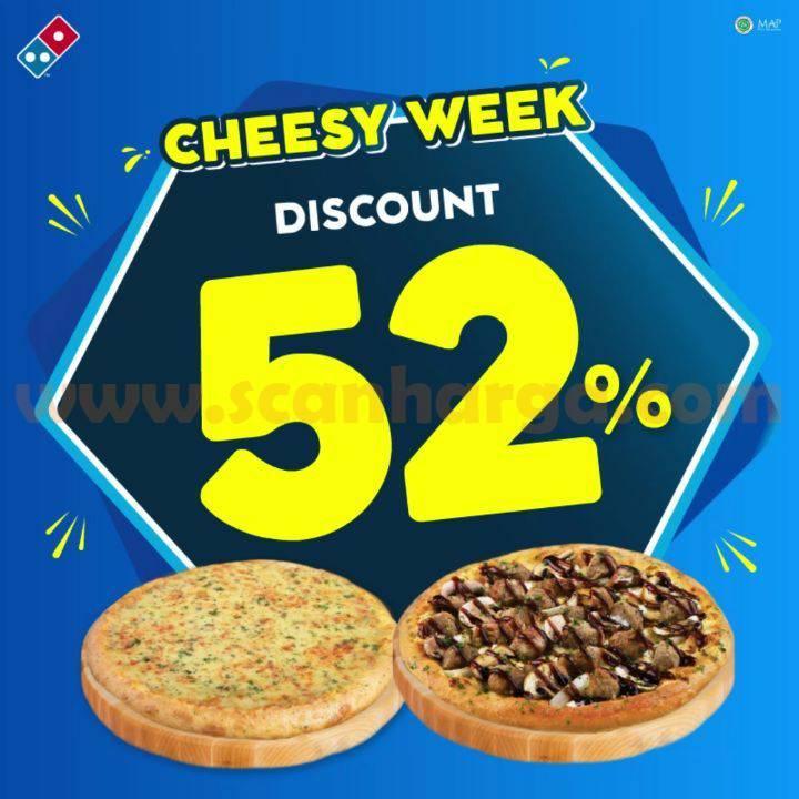 Domino's Pizza Diskon 52% khusus BEST SELLER Pizza!! 2 Cheesy Medium HT cuma 75rb*
