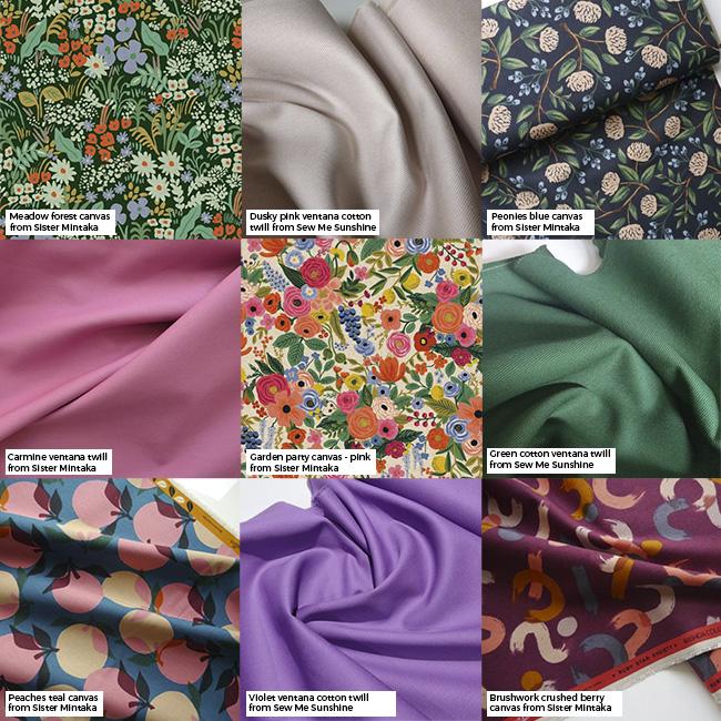 Inspiration and fabrics for making Bobbi