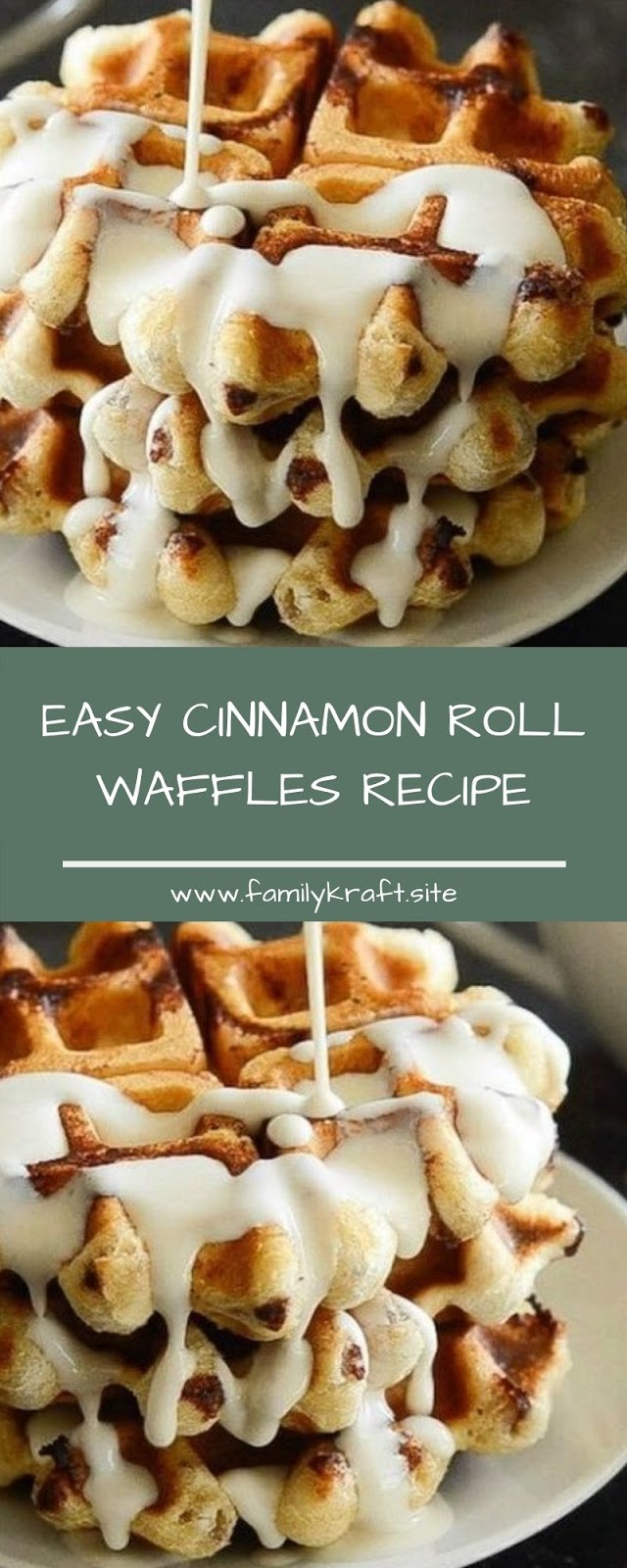 EASY CINNAMON ROLL WAFFLES RECIPE