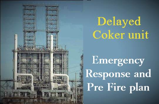 Refinery fire: Emergency response and pre fire plan for Delayed Coker Unit
