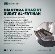 Diantara Khasiat Surat Al-Fatihah