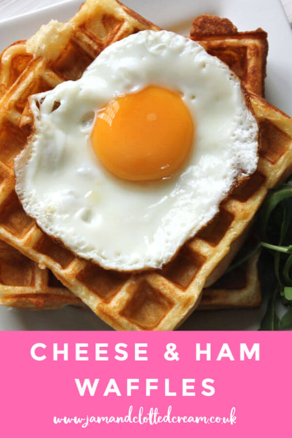 Savoury cheese and ham waffles The best weekend brunch recipe ever! #waffles #savourywaffles #cheesewaffles