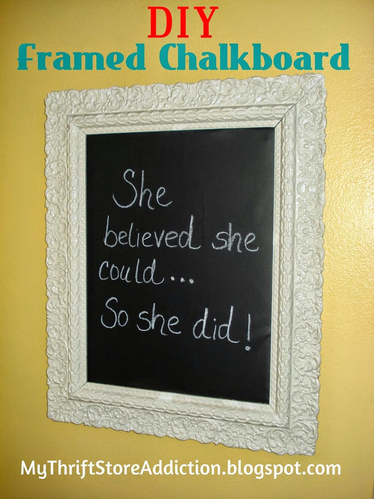DIY vintage chalkboard