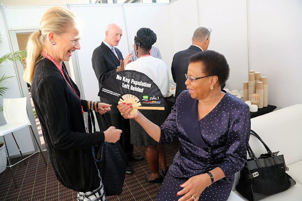 Princess Mabel of Orange-Nassau attended the 21st International Aids Conference in Durban