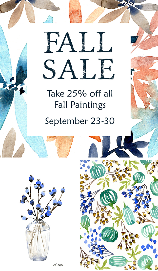 Elise Engh Watercolors Fall Sale
