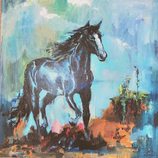 Ayoellploger, horselove, landskab, abstrakt, figurative, horse, hest, on-demand, bestilling, Nature, painting, maler, salg, galleri, Gallery,