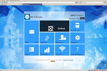 Firmware Modem Bolt ZTE MF90 Unlock WEBUI BeeBlue Indonesia